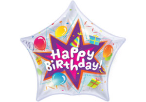 Luftballon Happy Birthday Stern Bubble