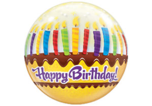 Happy Birthday Kuchen Kerzen Luftballon Bubble