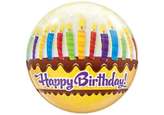 Happy Birthday Kuchen Kerzen Luftballon Bubble