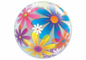 Luftballon Bubble mit bunten Blumen