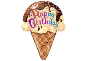 Luftballon Eis Eiswaffel Happy Birthday