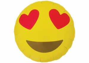 Emoji Smiley Herz Augen Luftballon