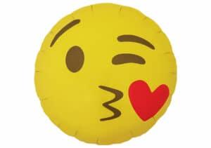 Emoji Smiley Herz Kuss Mund Luftballon