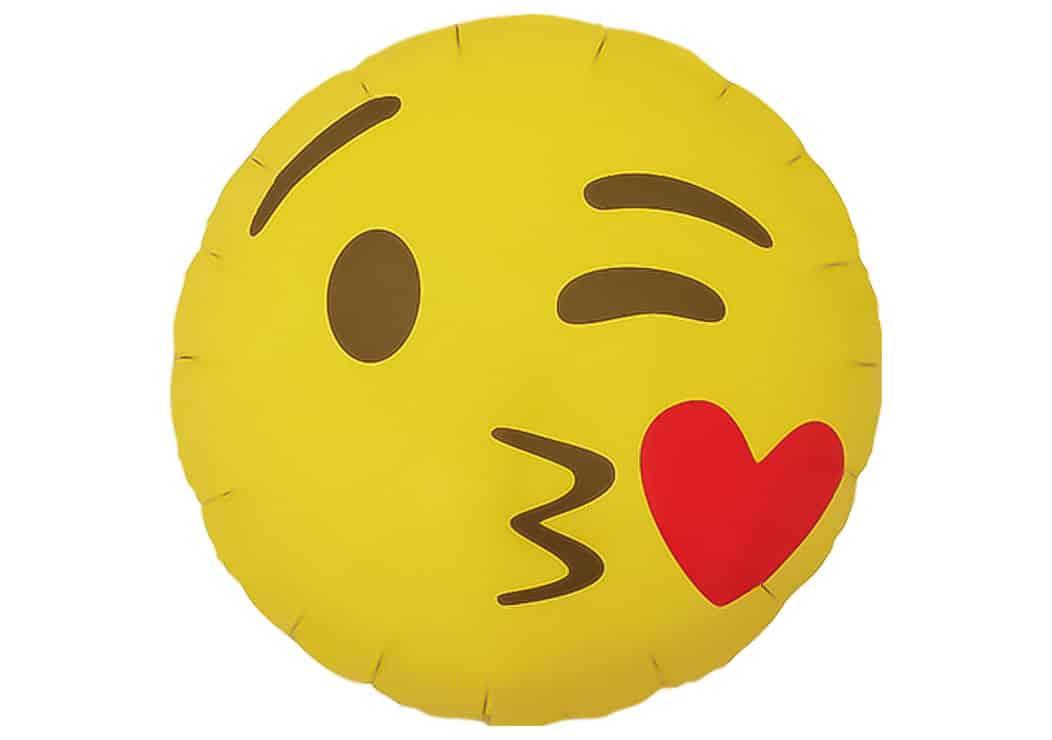 Emoji Smiley Herz Kuss Luftballon 38 Cm