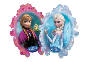 Anna und Elsa Schneekönigin Frozen Luftballon