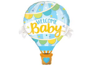Welcome Baby Heissluftballon Luftballon