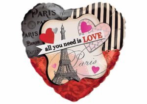 Herz Luftballon Paris All you need is love