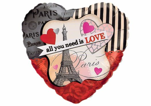 Herz Luftballon Paris All you need is love