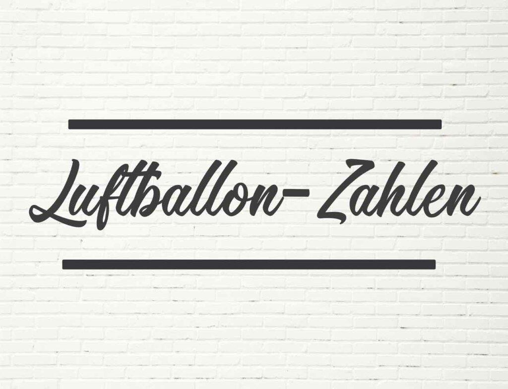 Luftballon-Zahlen
