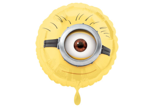 Minions Luftballon Auge rund