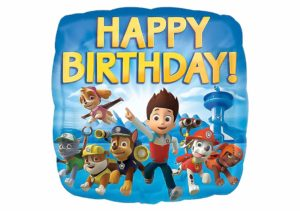 Happy Birthday Paw Patrol Luftballon viereckig