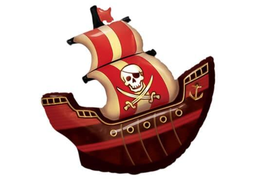 Piratenschiff Totenkopf Luftballon