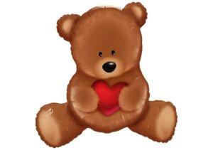 Teddy-Bär mit Herz Luftballon
