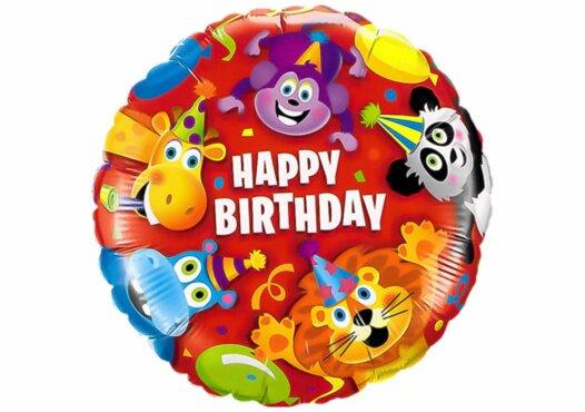 Happy Birthday Party-Tiere bunt Luftballon
