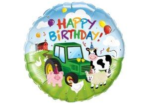 Happy Birthday Traktor Bauernhof Luftballon