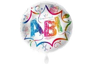 Luftballon zum Abitur bunt