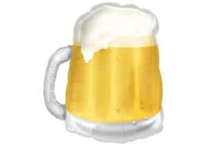 Bier im Glas Bierglas Luftballon