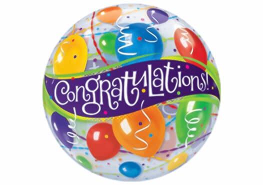 Congratulations Geburtstag Luftballon Bubble