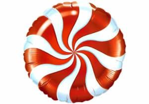 Candy Bonbon Luftballon rot-weiss
