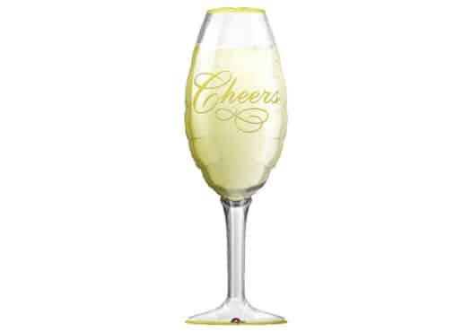 Champagner im Glas Champagnerglas Luftballon Cheers