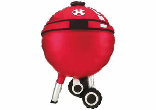Grill rot Kugelgrill Luftballon