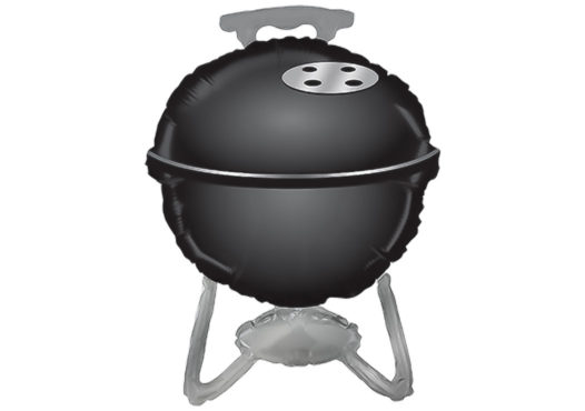 Grill schwarz Kugelgrill Luftballon