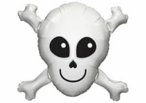 Lächelnder Totenkopf Luftballon