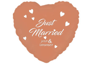 Just Married jetzt & immer Herz Luftballon rosegold
