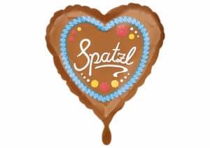 Lebkuchenherz Spatzl Herz Luftballon