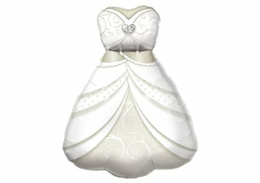 Hochzeitskleid Braut Luftballon