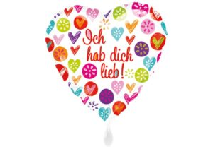 Herz Ich hab Dich lieb Luftballon bunt