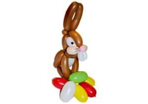 Osterhase mit bunten Eiern Ostern-Luftballon Figur