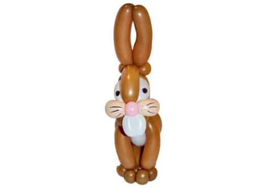 Brauner Osterhase Ostern-Luftballon Figur