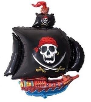 Luftballon Piratenschiff Totenkopf